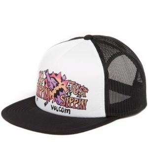 Volcom Snap Back Hat No Trippin Just Sippin